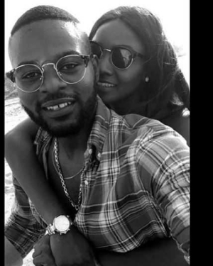 Simi & Falz Get Romantically Cuddly At The Beach (Photos)